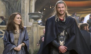 Natalie Portman and Chris Hemsworth in Thor: The Dark World. Portman will star as the female (Mighty) Thor in the fourth instalment of the Marvel franchise, Thor: Love and Thunder.