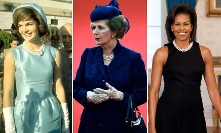 First ladies: Jackie Kennedy, Margaret Thatcher, and Michelle Obama in pearls