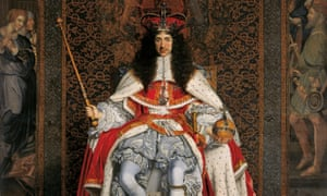 Andrew Taylor's The King's Evil is set in Restoration London. Detail of a portrait of Charles II by John Michael Wright.