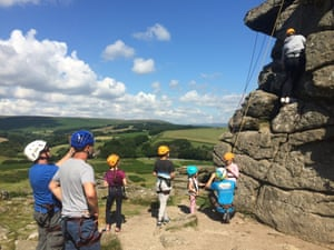 kids learning to rock climbing in Dartmoor with Crag 2 Mountain