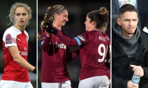 (Left to right) Arsenal's Vivianne Miedema; West Ham players celebrate against Bristol City; Birmingham coach Marc Skinner watches his side take their sixth win from nine league games.