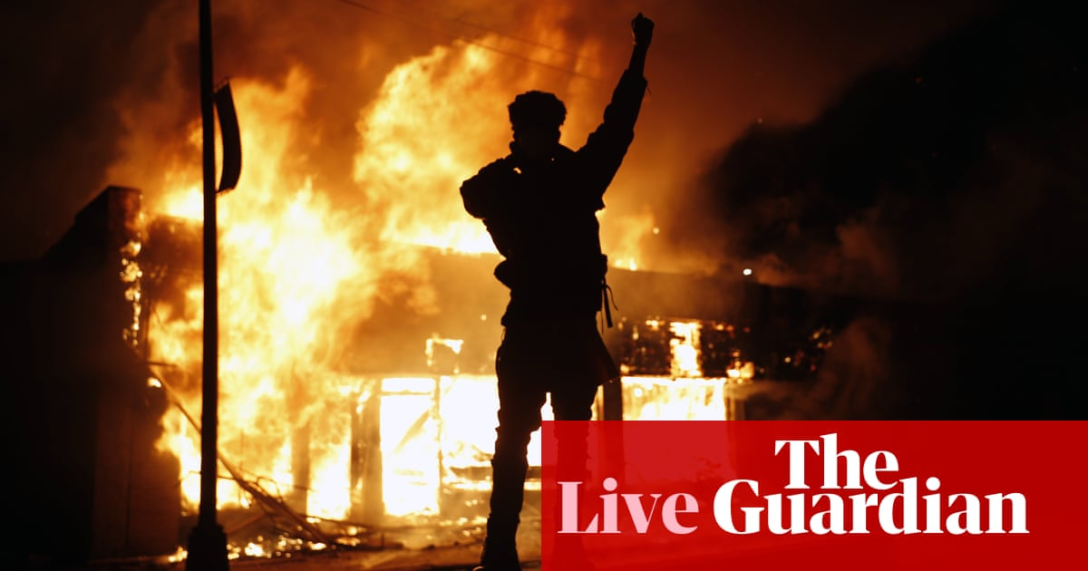 George Floyd: police forcefully crack down on protests across US – as it happened