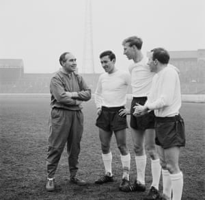 With Alf Ramsey before his international debut