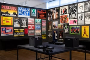 Installation view of Too Fast to Live, Too Young to Die: Punk Graphics, 1976-1986 at the Museum of Arts and Design, New York