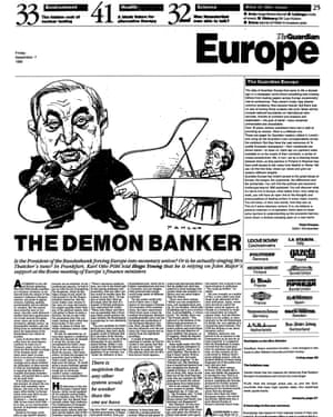 The first edition of Guardian Europe, 7 September 1990
