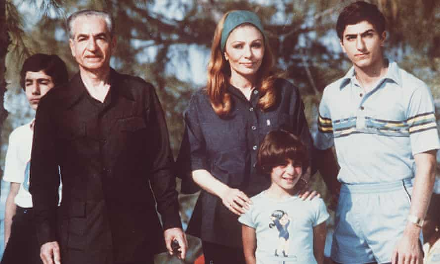 The shah of Iran, with his wife, Farah, and their children in the Bahamas, 1979.