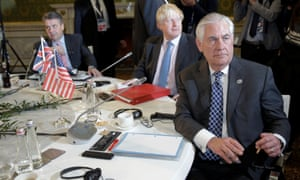 'Rex Tillerson conducts himself like a man with power while Johnson does not.' The G7 conference in Lucca, Italy