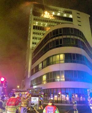 Fire, Balymun, Dublin. Image from : Dublin Fire Brigade.