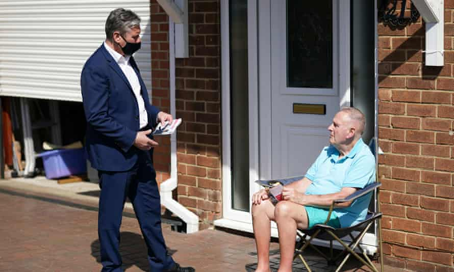 Keir Starmer canvasses in Hartlepool on 23 April.
