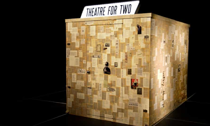 Isolation and connection … Theatre for Two's performance space, designed by Ioana Curelea.