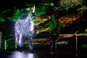 Balāha, by Damien Fontaine, tells the story of a magical horse that escapes from the night, seen at the city's Roman amphitheatre