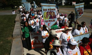 hundred women begin a 100-mile march from a detention center in York, Pennsylvania, to Washington DC.
