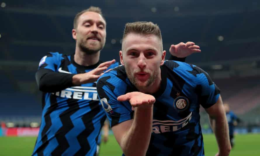 Milan Skriniar Earns Narrow Win Over Atalanta To Keep Inter On Title Track Serie A The Guardian