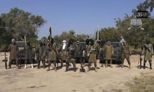 An image from a video released by Boko Haram in 2014.