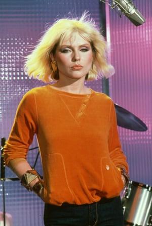 Bleached hair, chenille sweats: Debbie in 1980
