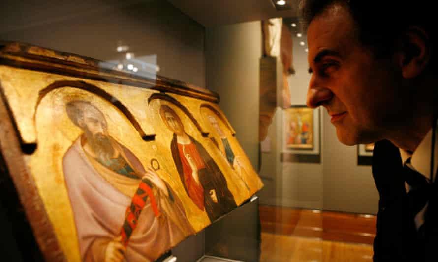 Pietro Lorenzetti's Christ Between Saints Paul and Peter