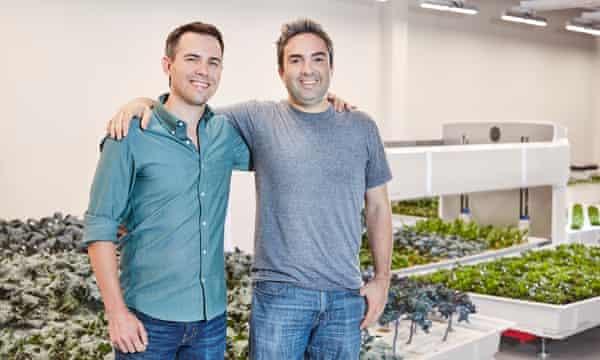 Iron Ox cofounders Brandon Alexander and Jon Binney.