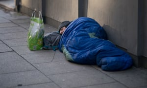 A homeless person on the streets of Manchester
