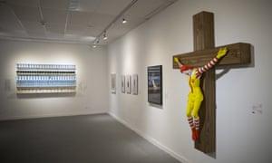 McJesus sculpture in Haifa Museum of Art