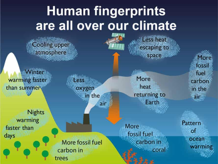 Summary of observational evidence that human carbon dioxide emissions are causing the climate to warm.