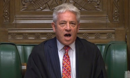 John Bercow calling Commons to order