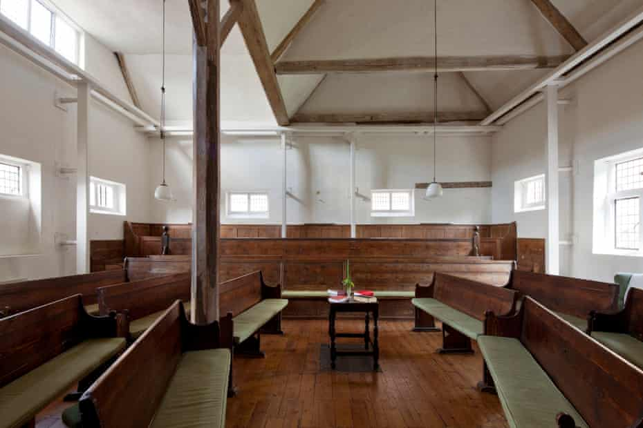Inside the Friends' Meeting House in Hertford.