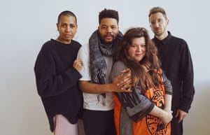 Joint Turner prize winners Helen Cammock, Oscar Murillo, Tai Shani and Lawrence Abu Hamdan.