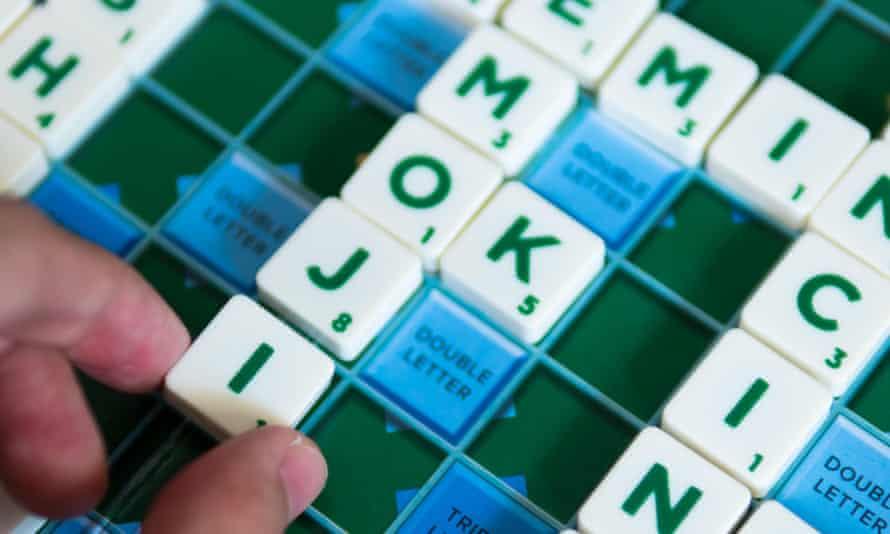 Letters on a Scrabble board