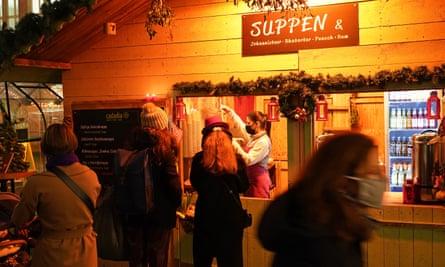 A Christmas stall on Friedrichstrasse in Berlin
