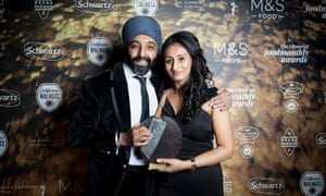Randeep Singh and Manpreet Lall from Nishkam Swat, winners of Outstanding Achievement for their work feeding the homeless