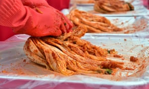 The fiery cabbage dish kimchi is a staple on the Korean peninsula.