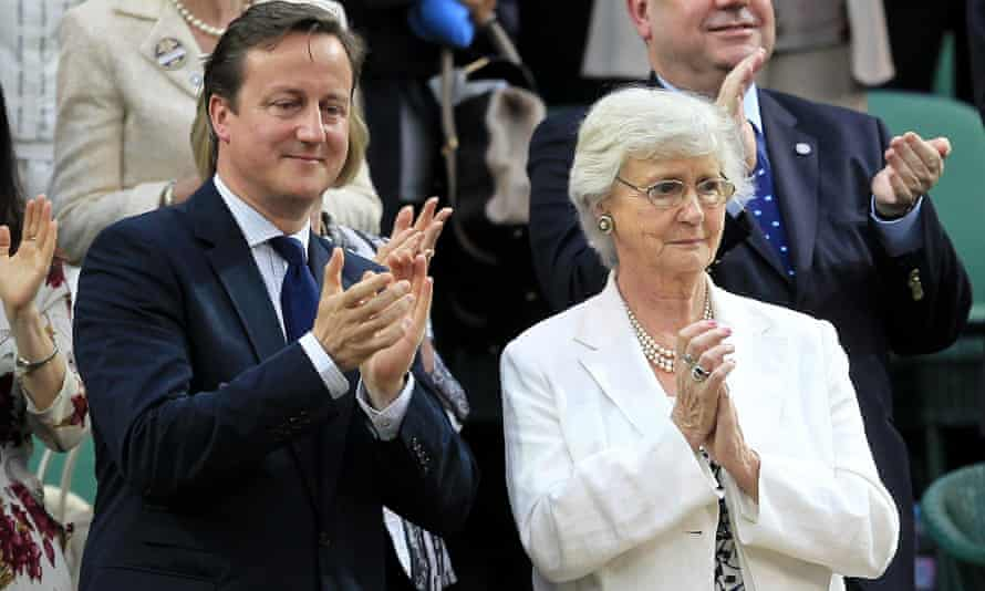 David Cameron and his mother Mary in 2012. She has signed a petition against the planned closure of children's services in Oxfordshire.