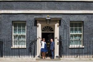 London, England DUP leader Arlene Foster and deputy leader Nigel Dodds