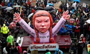 Greta Thunberg carnival float