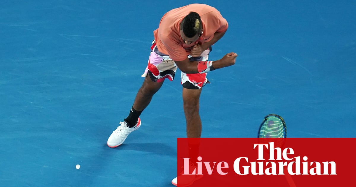 Australian Open: Rafael Nadal v Nick Kyrgios, plus Kerber goes out – live!