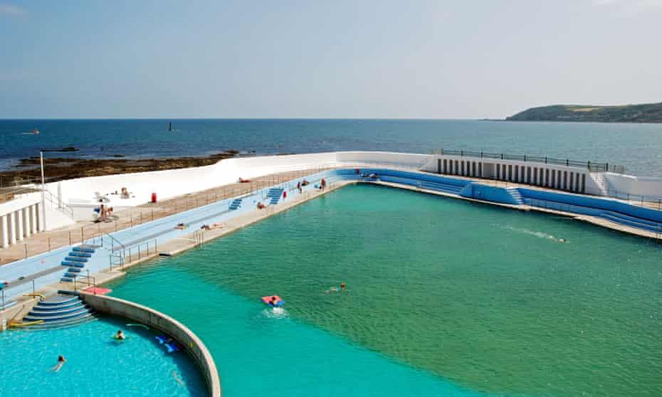 'Britain's largest seawater swimming pool': Jubilee Pool, Cornwall.