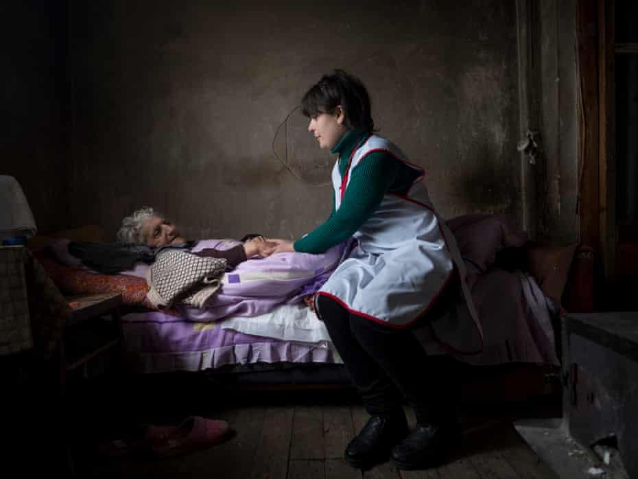 Larisa Khachatryan, 75, in Gyumri