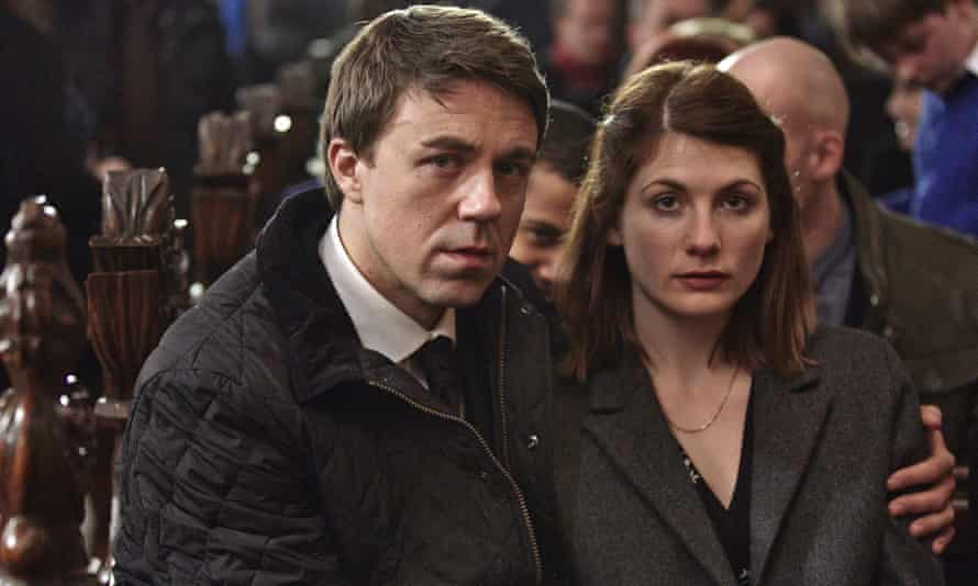 Jodie Whittaker with Andrew Buchan in Broadchurch.