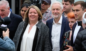 Jeremy Corbyn in Peterborough with Lisa Forbes, the Labour party's winning candidate in the byelection