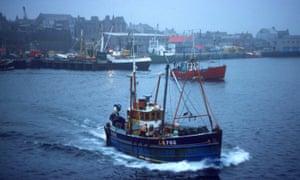 Fishing vessels off Shetland.