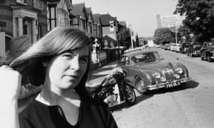 Edna O'Brien in the street where she lived in 1964