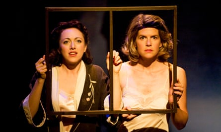 Clare Lawrence Moody and Candida Benson in Judith Adams's 2009 stage adaptation of The Girls of Slender Means.