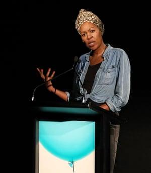Sisonke Msimang speaking at Antidote at Sydney Opera House on 2 September