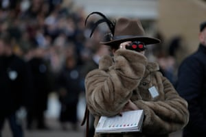 Watching the final race during day four of the Cheltenham Festival