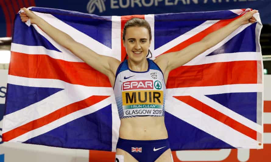 Laura Muir left the field trailing in her wake as she crossed the finish line to win gold in the final of the women's 1500m in Glasgow.