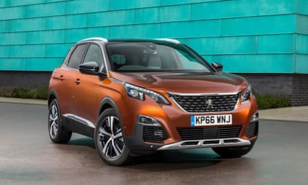 Peugeot's new 3008 SUV GT parked against a green wall
