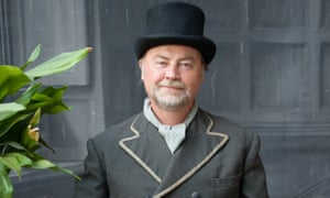 Eamonn McCabe in Victorian dress in Edward Reeves's studio in Lewes.