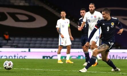 Lyndon Dykes scores Scotland's goal against Slovakia