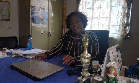 Betty Nyaghoa in her office at Gatoto school.