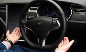 Tesla Model S P100D, a self-driving car.
